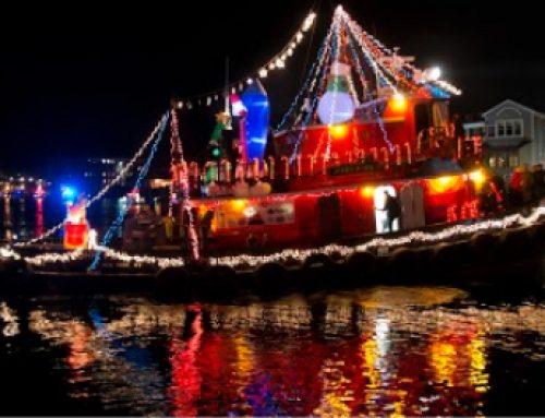 Santa Arrives By Tugboat
